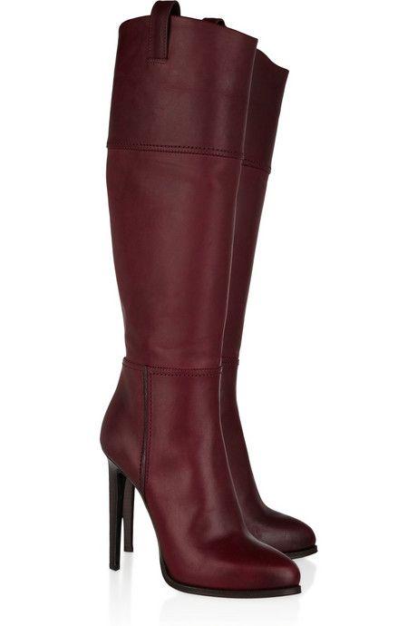 f0494222955 Emilio Pucci Leather knee dark wine boots