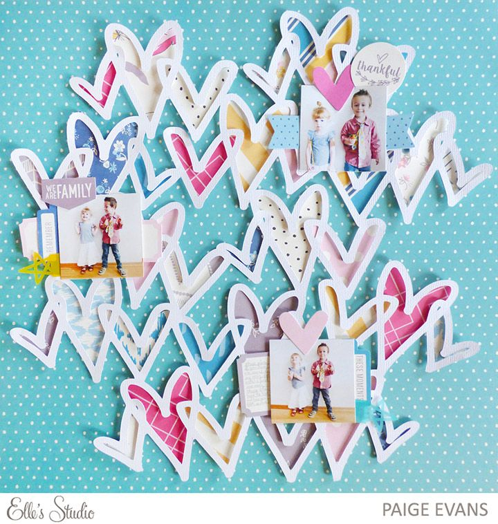 WE ARE FAMILY by Paige Evans - see how Paige puts this layout together in her step-by-step tutorial!
