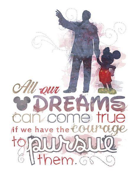 Walt Disney Quote 8x10 Printable Poster Digital Instant