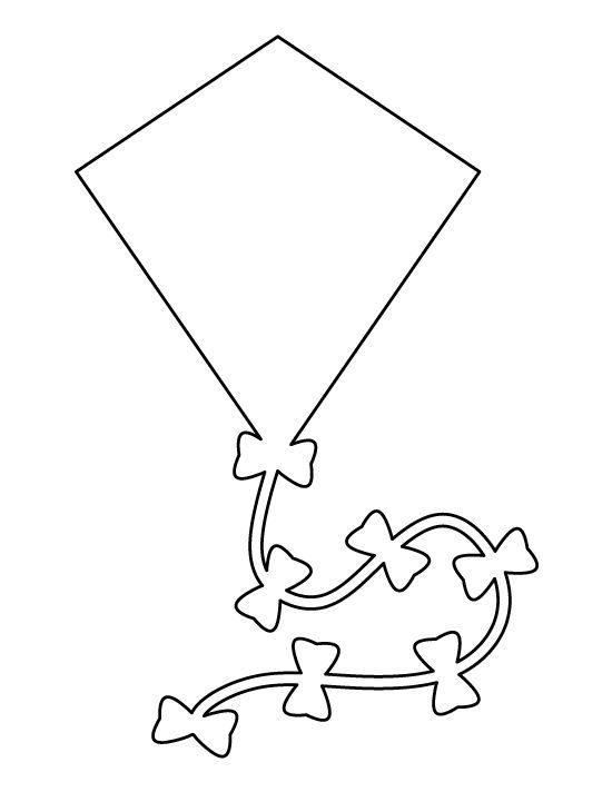 Kite pattern Use the printable outline for crafts, creating - flat stanley template