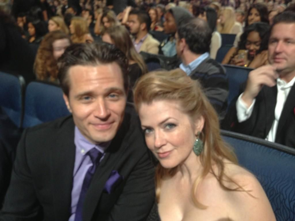"""From Seamus- """"Me and @CleverDever at the PCAs"""""""