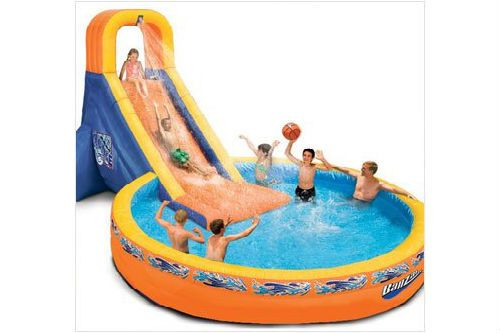 plunge water slide inflatable pool