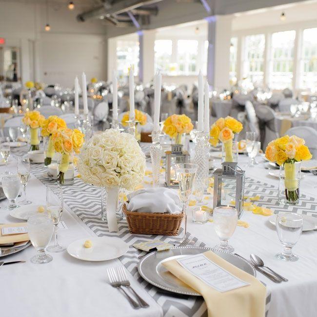 Yellow And Grey Wedding Flowers: Yellow Wedding Inspiration