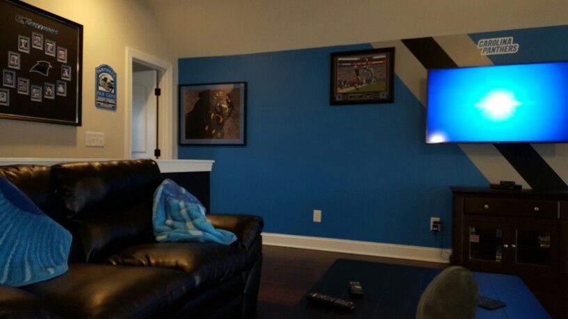 Our Carolina Panther Fan Cave Media Man Cave In 2019