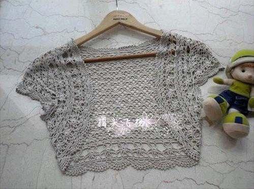 Moldes para tejer una tunica a crochet para niñas06 | Boleros a ...