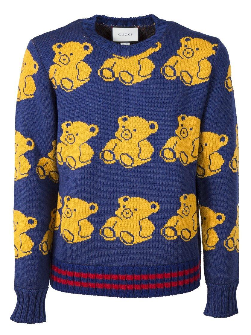 37f9d2f23db GUCCI Teddy Bear Crewneck Sweater.  gucci  cloth  sweater
