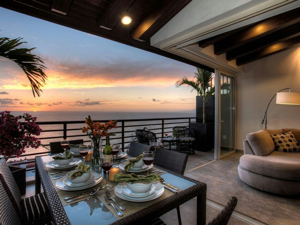 Appartamento con vista sul mare tramonto Tramonti e
