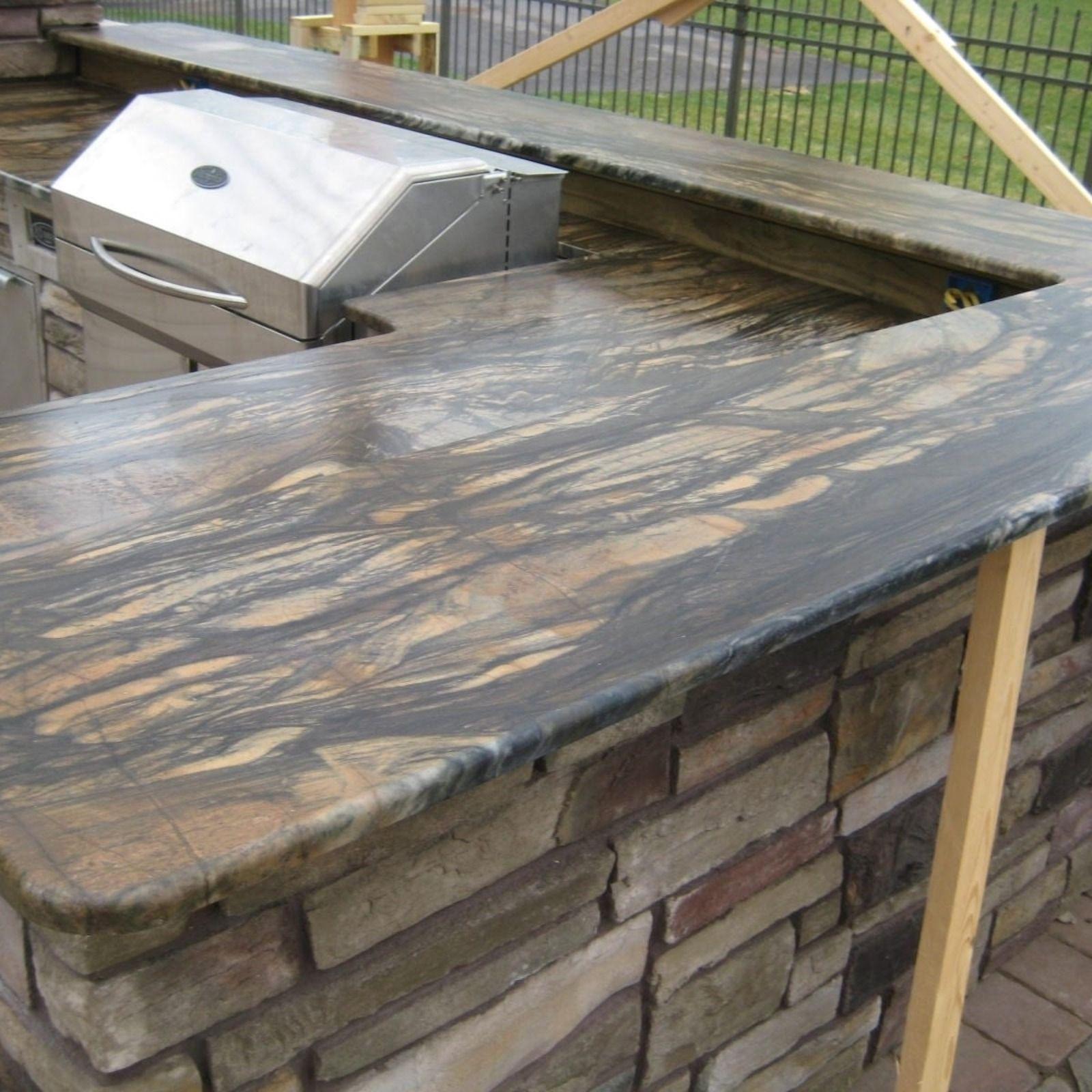 outdoor kitchen best countertop material outdoor kitchen countertops outdoor kitchen design on outdoor kitchen quartzite id=90457