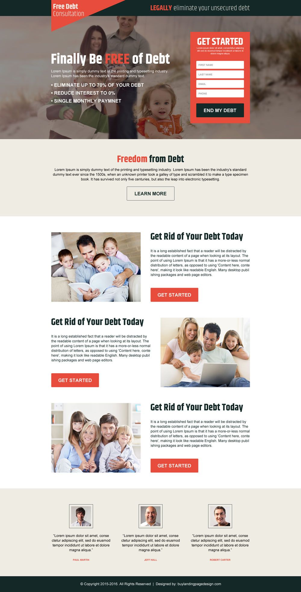 Converting Debt Relief Landing Pages For Your Business Sales Buylpdesign Blog Debt Relief Debt Relief Programs Debt