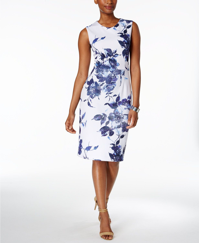 Betsey johnson wedding dresses  Betsey Johnson Printed Scuba Sheath Dress  macys  Macyus