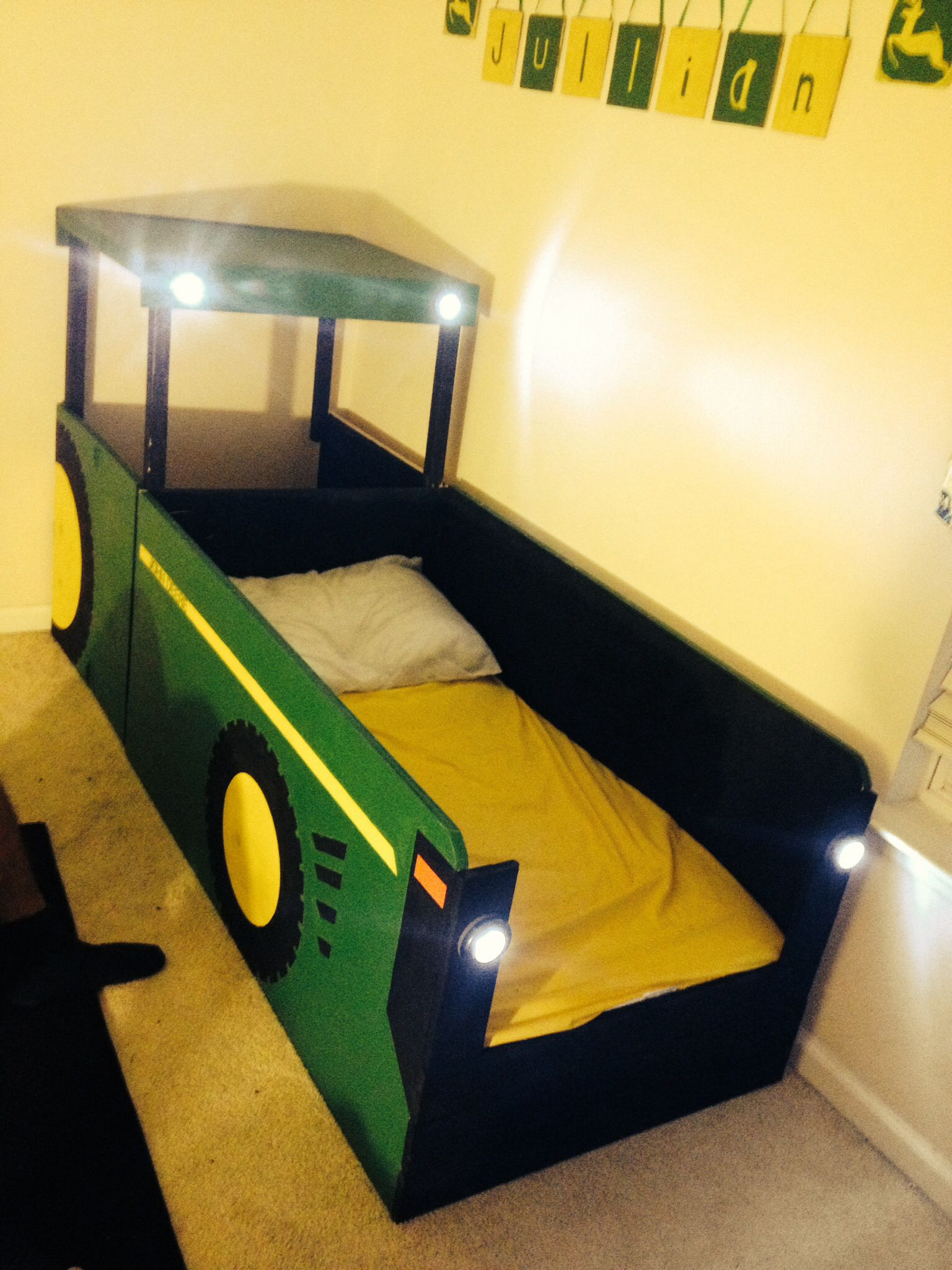 John Deere Tractor Bed I Built For My 18 Month Old He