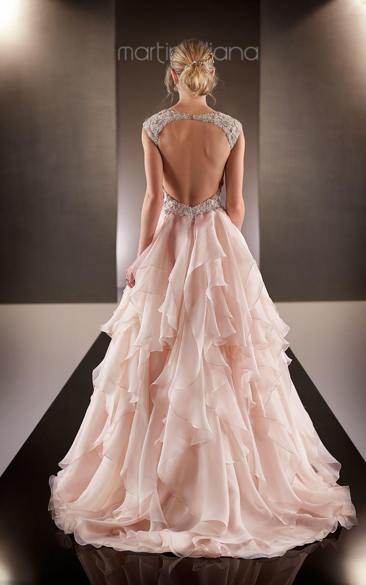 Organza Fit and Flare Wedding Gown | Ropa de fiesta, Fiestas y Novios