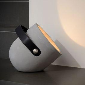 Beton Tischleuchte Copain In Taupe D240mm Lucide 20511 01 41 In 2020 Lampen Tischleuchte Lampen Wohnzimmer