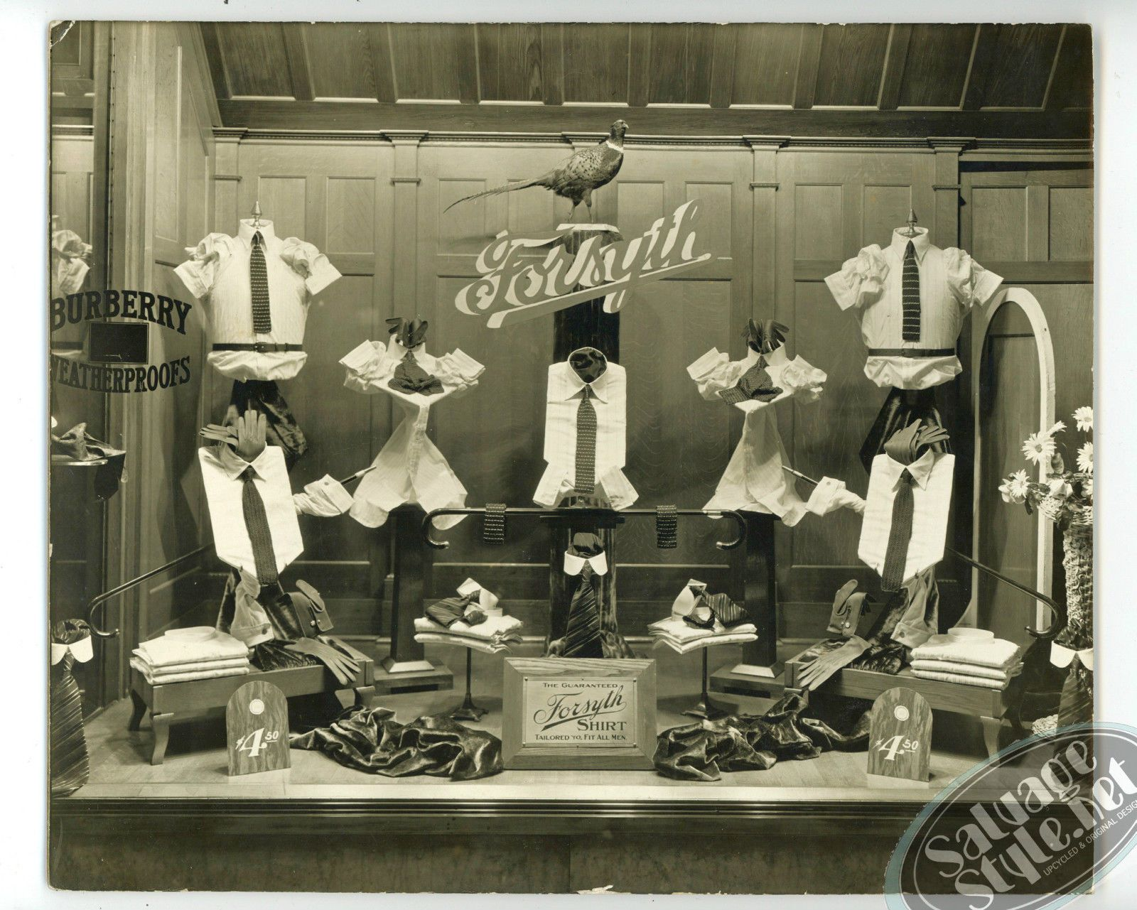 Amazing Photo Of A 1920 S Vintage Mens Fashion Window Display