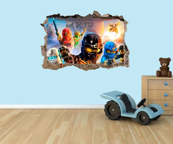 LEGO Ninjago 3D-Effekt Grafik Vinyl Aufkleber Wandtattoo | Unbedingt ...
