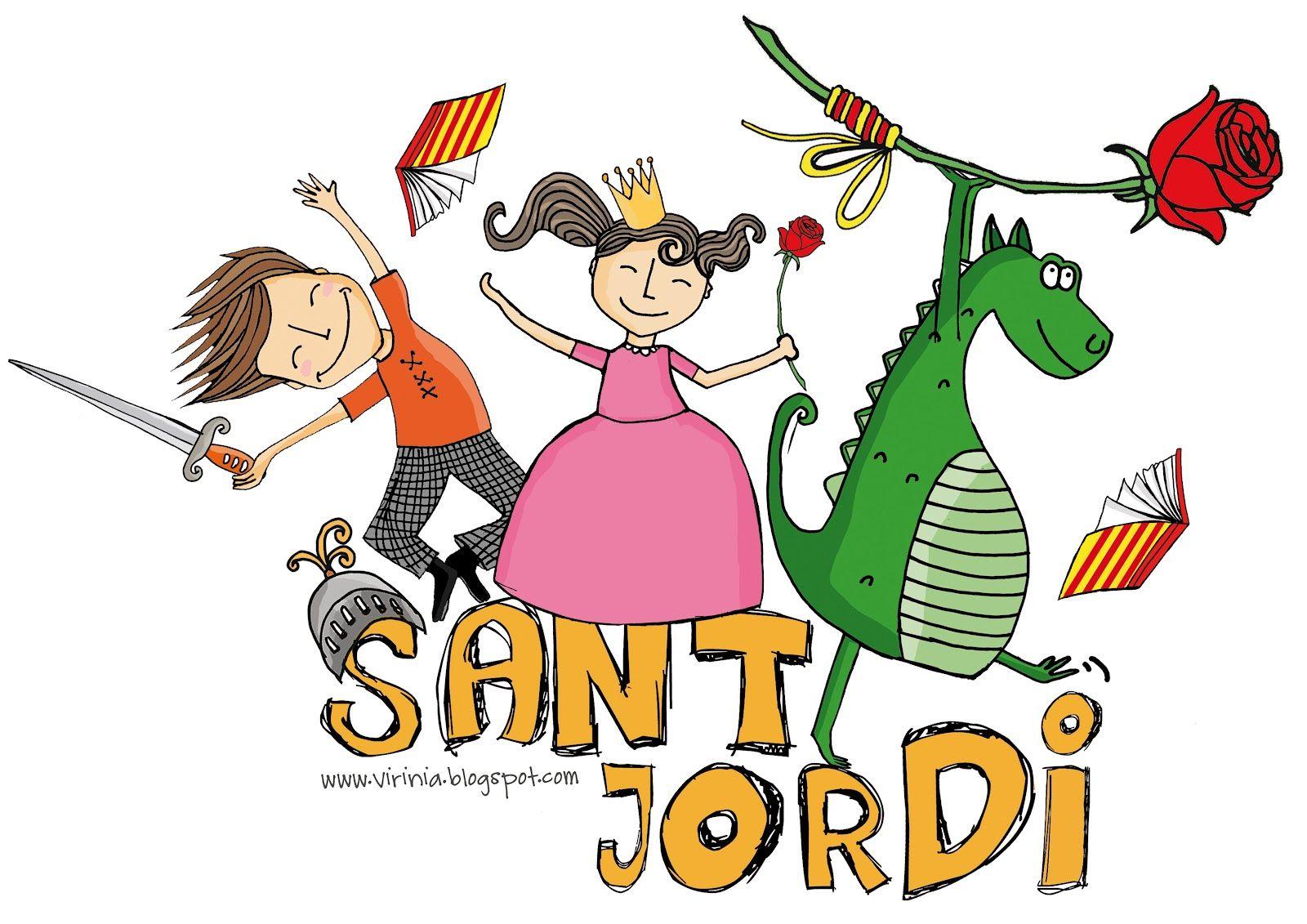Feliç Diada De Sant Jordi Cicle Mitjà El Nostre Bloc Jordi Diada Sant Jordi Feliç Sant Jordi