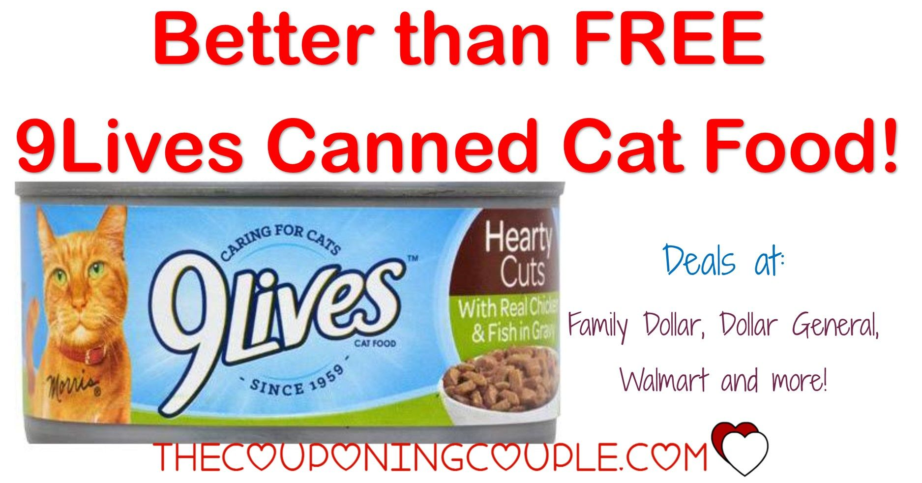 Super Cheap 9Lives Canned Cat Food Dollar General! 0.08