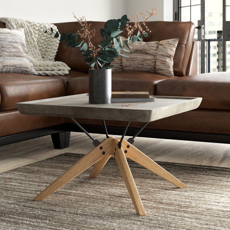 Trent Austin Design Audwin Concrete Coffee Table Wayfair Concrete Coffee Table Patio Table Table