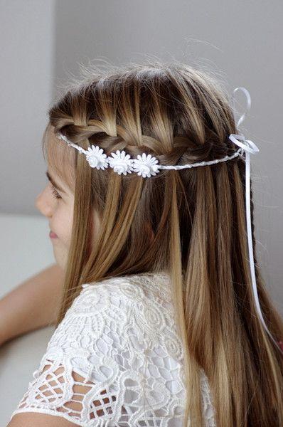 Haarband Fur Kommunion Haarband Haarkranz Von Klamitka Auf