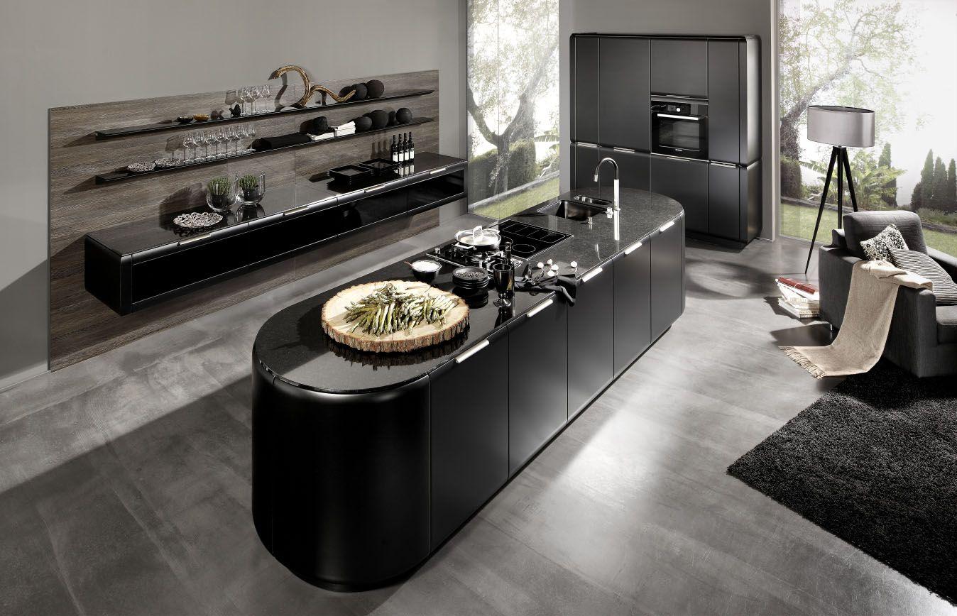 Elegant Rational Einbauk chen Modell Onda sthetisches K chenkonzept und elegantes Design Design Innenarchitektur