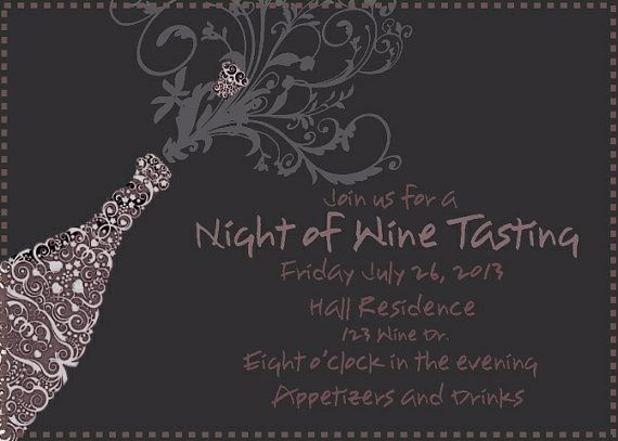 Wine Tasting Invitation Bachelorette party invitation birthday
