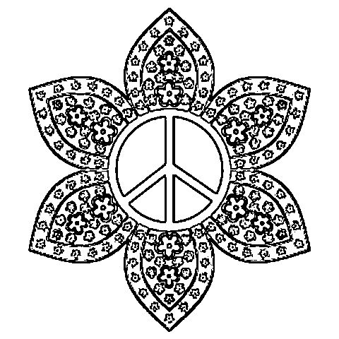 peacewow this is sooo similar to my design peace sign mandala hippie psychedelic peace heart coloring pages for teenagers