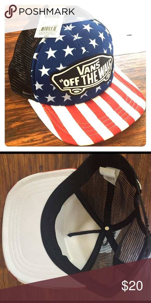 032abddc72 Vans American Flag Snapback Hat Perfect condition