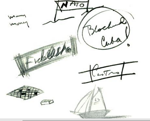 JFK\'s doodles during the Cuban Missile Crisis, from David ...