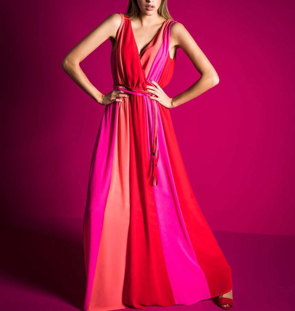 APART Chiffonkleid Maxikleid Damenkleid Abendkleid Ballkleid rot