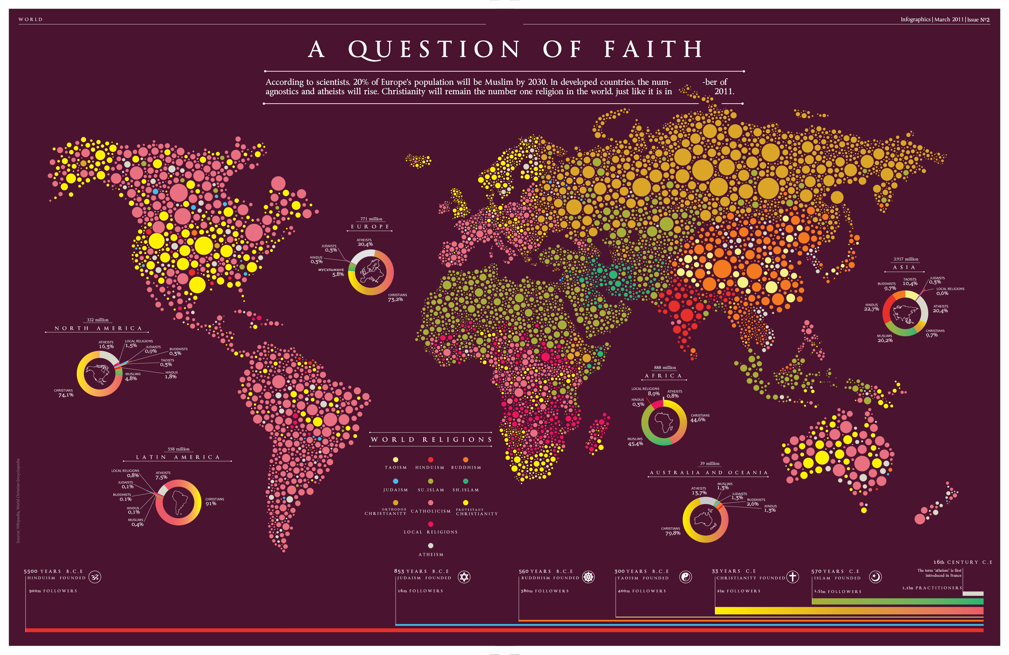 Map infographic religions throughout the world translated from map infographic religions throughout the world translated from russian 3366x2186 gumiabroncs Choice Image