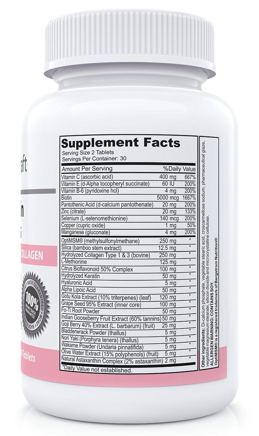 VM1000304086 - #1 Hair, Skin & Nails Supplement with 5000mcg of ...