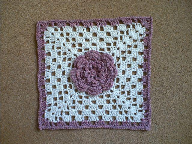 Ravelry: Irish Rose Afghan Square pattern -- free ravelry crochet ...