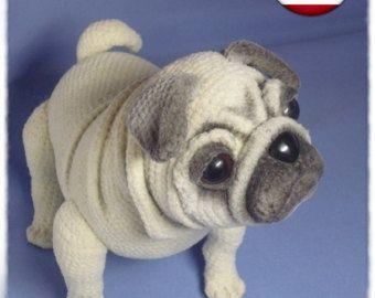Lifelike Pug Dog Crochet Pattern Pdf English Usa Stricken