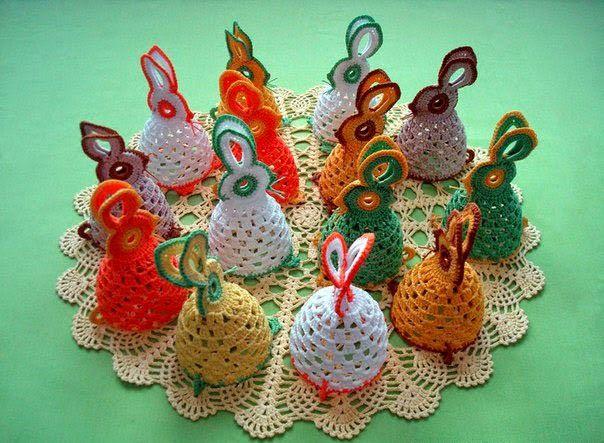 huevos de Pascua | Navidad y Pascua | Pinterest | Huevo, Ganchillo y ...