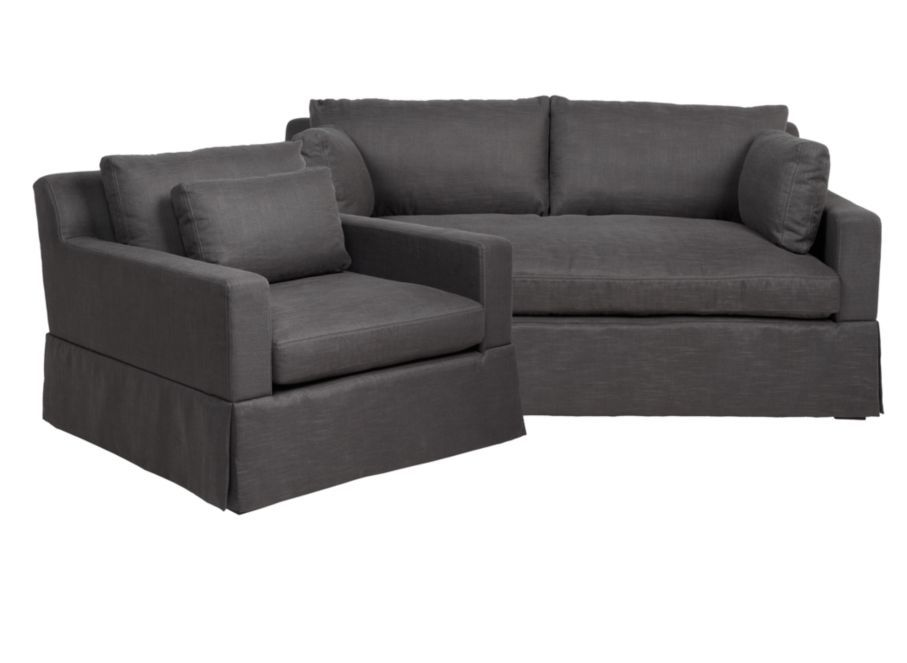 Chic bo Theodore Charcoal Sofa & Chair Sofa bos