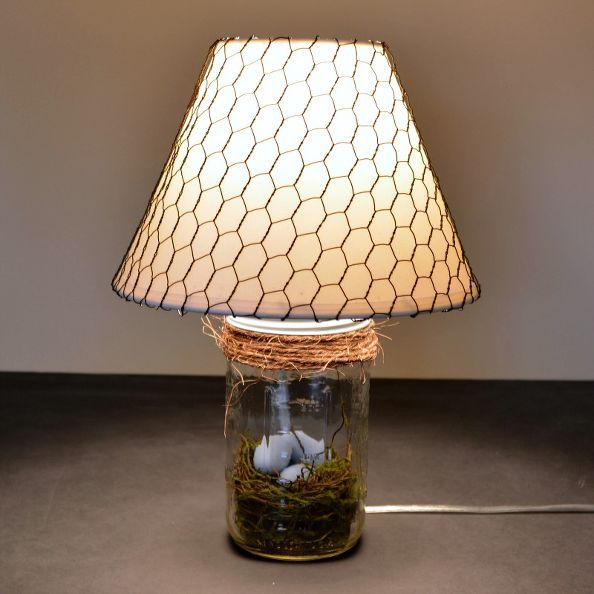 The Mason Jar Lamp Rustic Spring Decor Rustic Spring Decor Mason Jar Diy Diy Lamp
