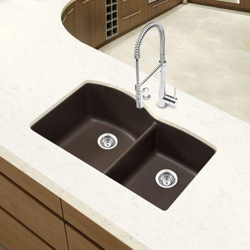 Blanco Diamond Silgranit II 1 ¾ Bowl Sink In Café Brown $424.99