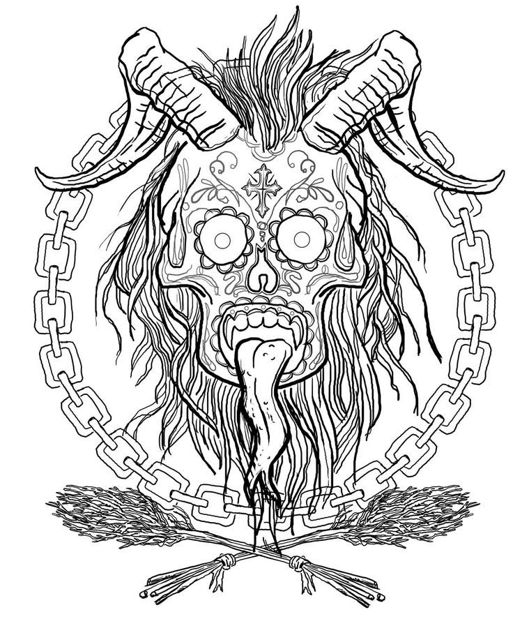 Krampus Halloween Coloring Coloring Pages Halloween Coloring Pages