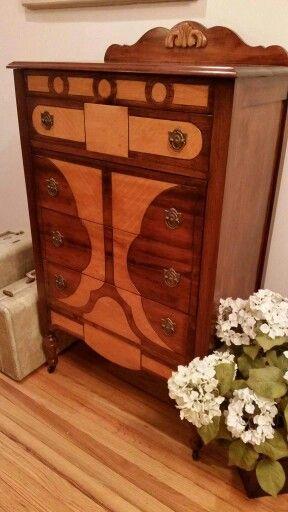 Awesome 1920 1930u0027s Antique Two Tone Dresser. Refinished Back To Itu0027s Original  Glory! Refinished