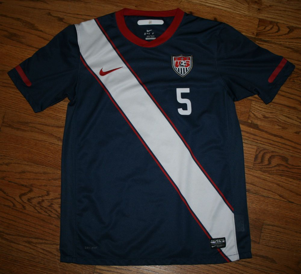 5e09b4e4220 USA Soccer Oguchi Onyewu Nike Dri-Fit Jersey Youth X-Large World Cup  Nike   USA