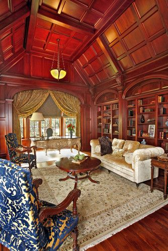 Home Library and Study traditional home office