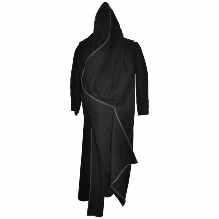 Comme des Garcon Black Oversized Deconstructed Wrap Coat | 1stdibs.com