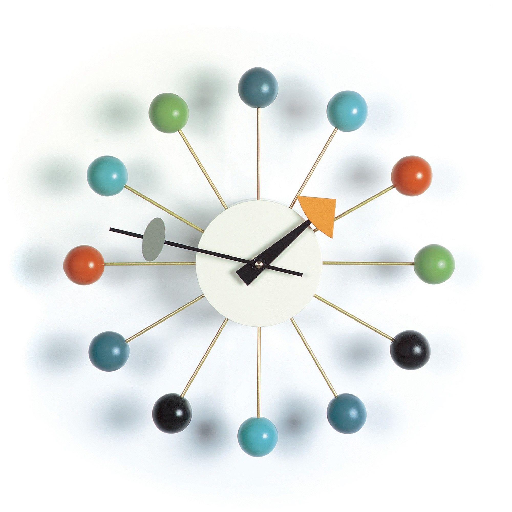horloge ball clock multicolore - vitra | mirrors & clocks