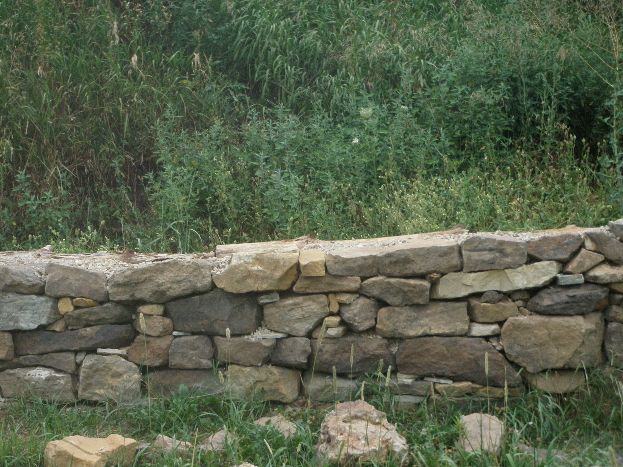 Dry Stack Stone Wall Google Search Garden Dry Stack