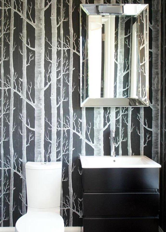 Фото из статьи: Обои в ванной: 25 креативных и ярких ...