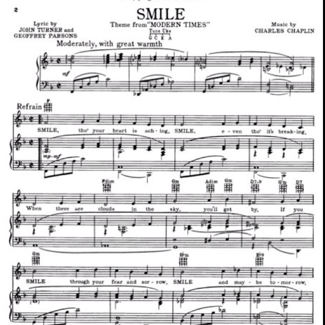 Free Piano Sheet Music New Age: Most People Don't Realize That Charlie Chaplin Wrote The