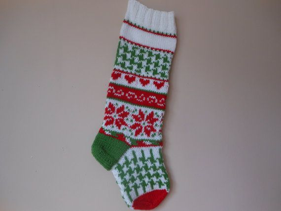 Personalized Christmas Stocking Hand Knitted Christmas Gift ...