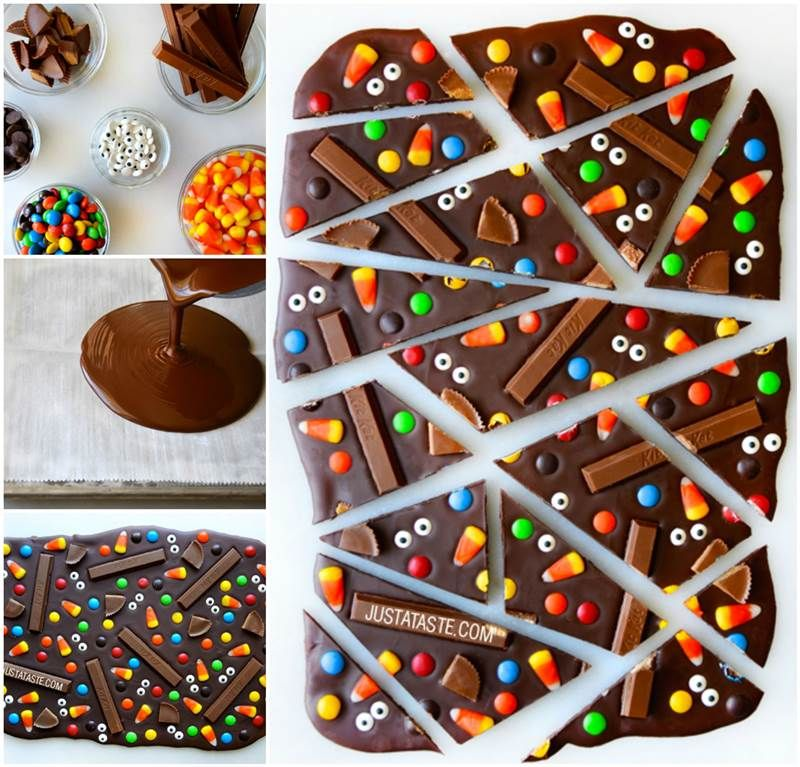 creative ideas diy halloween candy bark icreativeideascom follow us on facebook - Easy Halloween Candy Recipes
