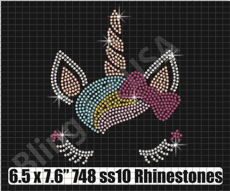 Unicorn With Heart Crown Rhinestone Download Birthday Vinyl