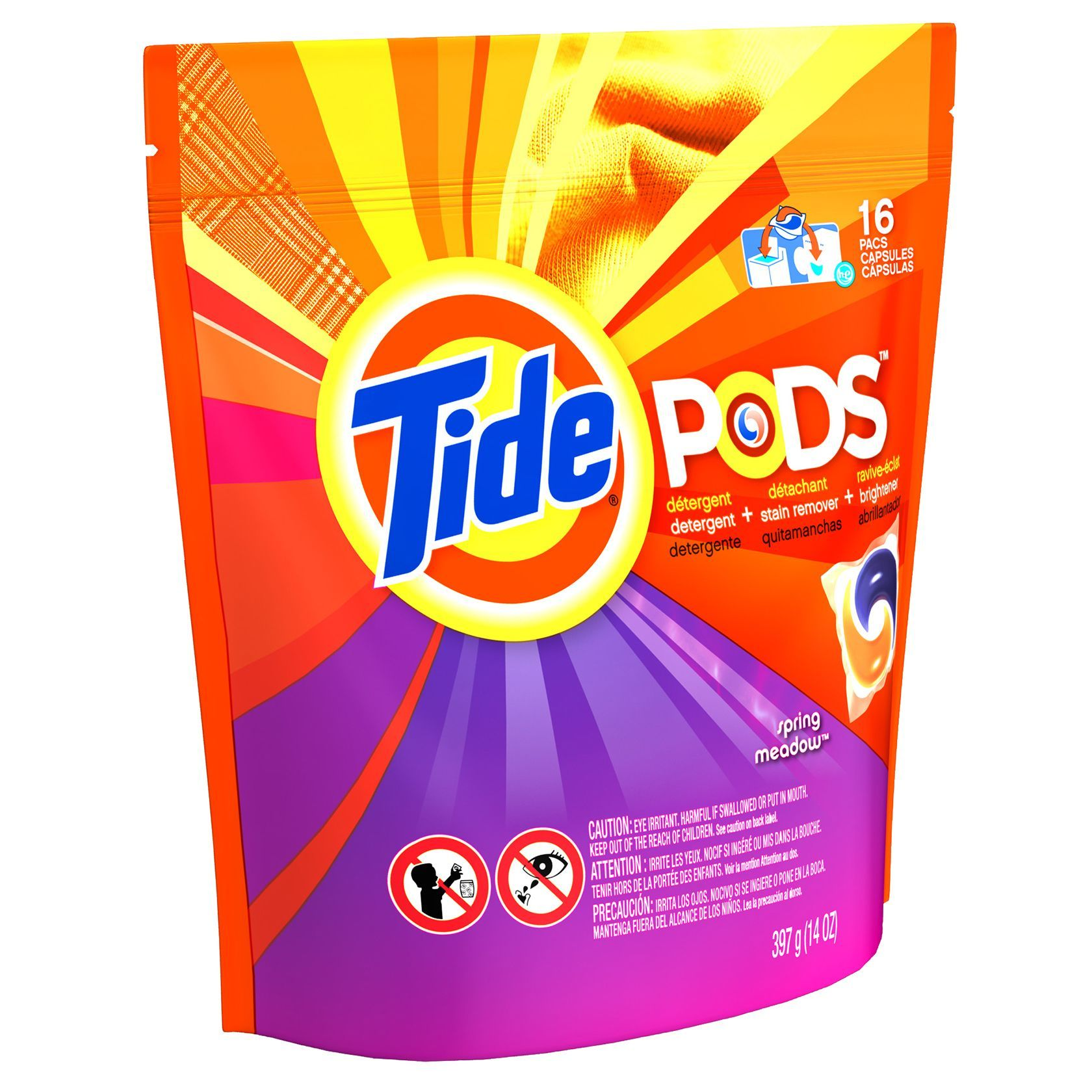 Jensen Tide 93120 Spring Meadow 3 In 1 Tide Laundry Detergent Pods